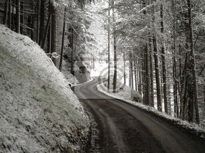 Winter-Straße Meandering