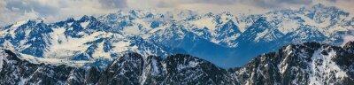 Sticker Winterlandschaft der Alpen Bergpanorama