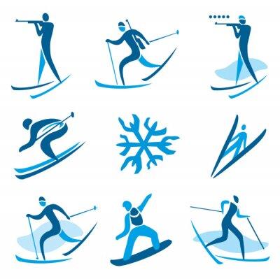 Sticker Wintersport-Symbole