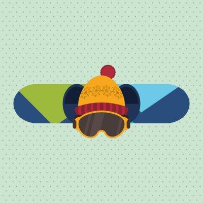 Sticker Wintersportentwurf