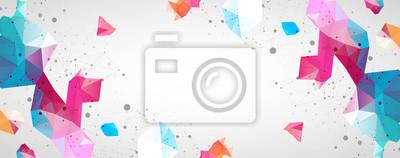 Sticker Wireframe background with plexus effect. Futuristic vector illustration.