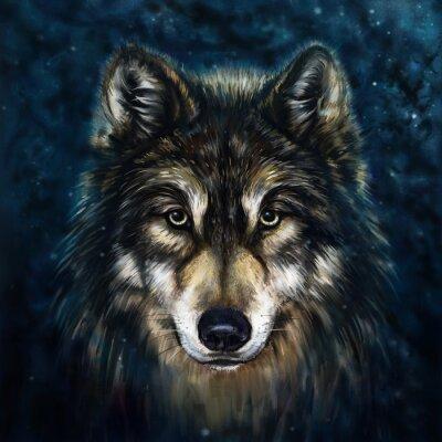 Sticker Wolf vor