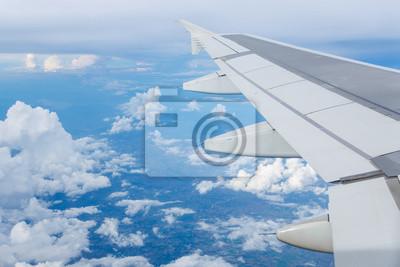 Wolke Himmel Blick Vom Flugzeug Fenster Notebook Sticker