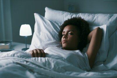 Sticker Woman sleeping in her bed