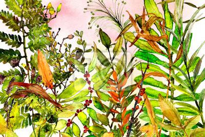 woodland watercolor