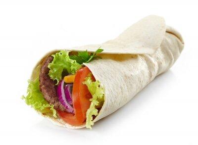 Sticker Wrap mit Fleisch und Gemüse