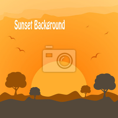Wüste Sonnenuntergang