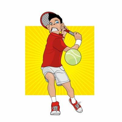 Sticker Wütender Tennisspieler