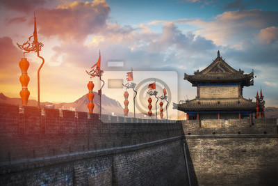 Sticker Xian Stadtmauer.