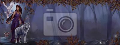 Осень иллюстрация с местом для текста. Ноябрь