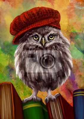 Сова в вязаной шапке - персонаж