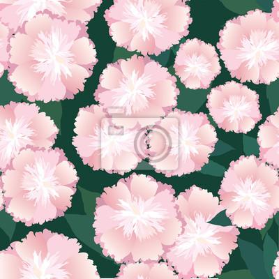 Sticker бесшовный фон из розовых цветов, drucken