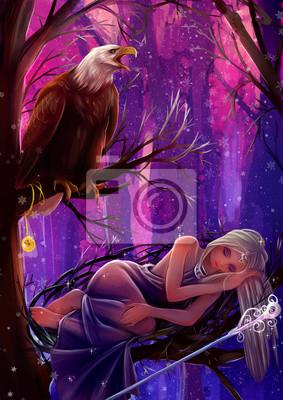 Зачарованный сон- девушка нимфа