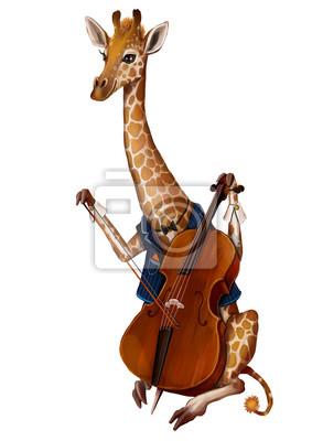 Жираф Мариус и виолончель