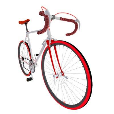 Sticker Велосипед на белом фоне