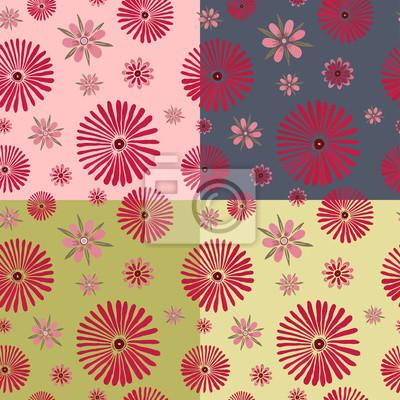 цветы вектор бесшовная текстура