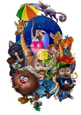 Персонажи. Детская иллюстрация
