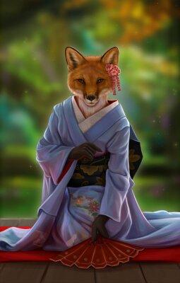 Лиса в кимоно