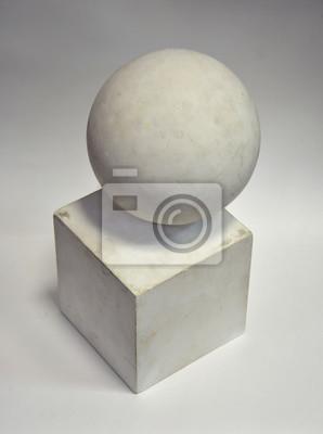 белый куб, шар
