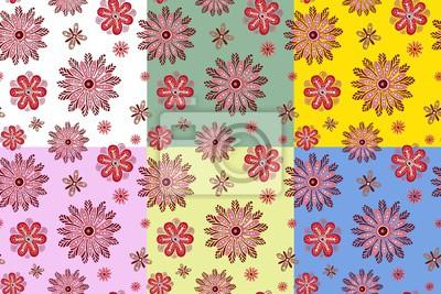 вектор цветы текстура