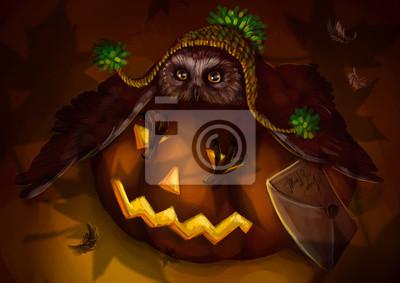 Хэллоуин и сова
