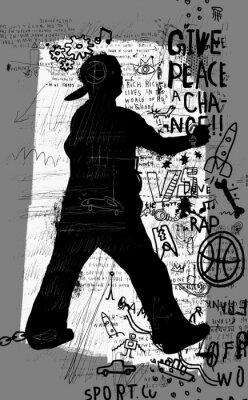 Sticker Уличный художник