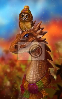 Сова und дракон