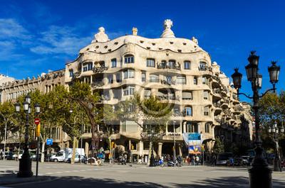 Casa Mila von Gaudi, Barcelona, Spanien