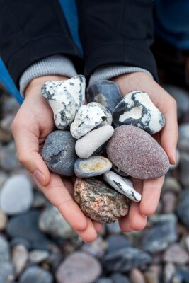 Sticker Steine sammeln