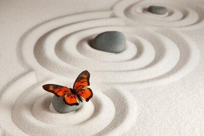 Sticker Zen-Steine mit Schmetterling