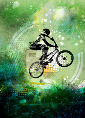 Young male bicycle jumper. Healthy lifestyle.