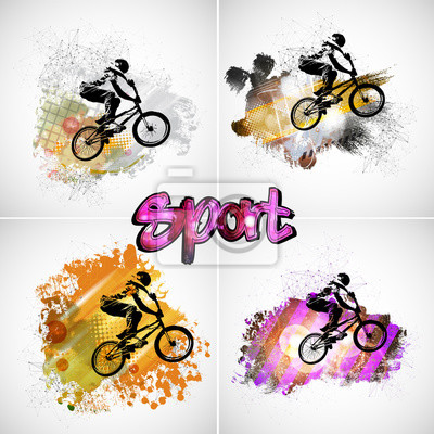 Young male bicycle jumper. Healthy lifestyle