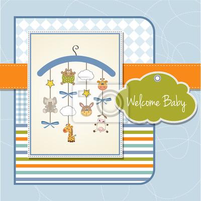 zarte Baby-Dusche-Karte
