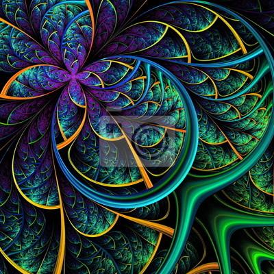 Zarte fabelhaften Muster der Blätter. Computer generierte grap