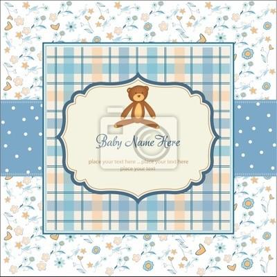 zarten floralen Baby-Dusche-Karte