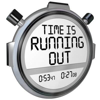 Sticker Zeit läuft heraus Stoppuhr Uhr