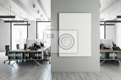 Sticker Zeitgenössischer coworking Innenraum mit Fahne
