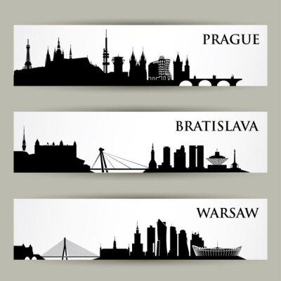 Sticker Zentraleuropäische Städte Skylines