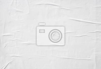 Sticker Zerknittertes Weißbuch