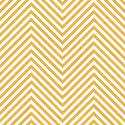 Sticker Zickzack Gelb Muster. Welle Hintergrund im Vektor