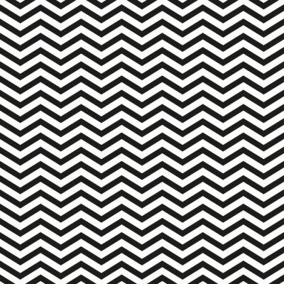 Sticker Zickzackmuster mit schwarzen Linien stilvolle Illustration