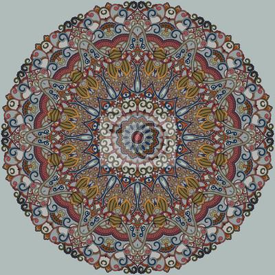 Zier-Muster Runde. Multicolor Mandala