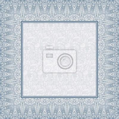Zierrahmen auf Muster Hintergrund. Abstract design