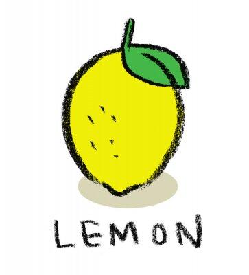 Sticker Zitrone