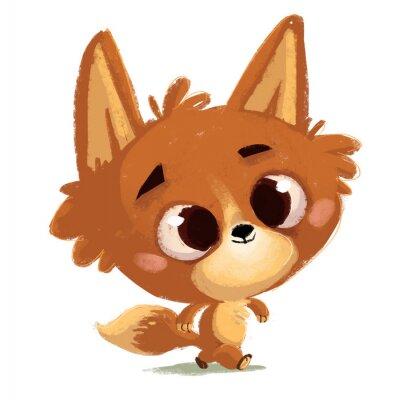 Sticker  zorro pequeño