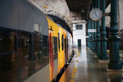 Sticker Zug auf dem Bahnhof