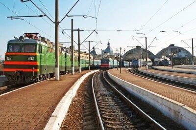 Sticker Züge am Bahnhof
