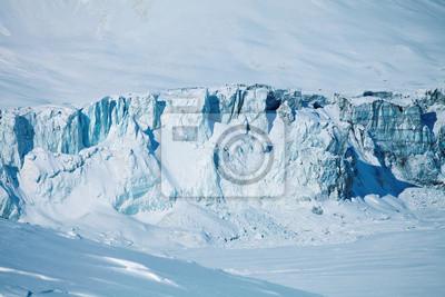 zusammenbrechenden Gletschers und zugefrorenen See