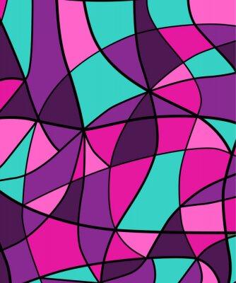 Sticker Zusammenfassung Buntglas Hintergrund