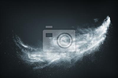 Sticker Zusammenfassung Design der weißen Pulverschnee Wolke